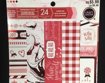 "Craft Smith Peppermint Twist 6"" x 6"" Paper Pad"