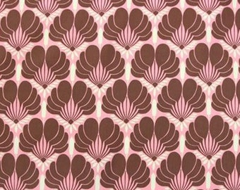 Amy Butler Nigella Imperial Fans Pink Brown Home Dec Fabric BTY