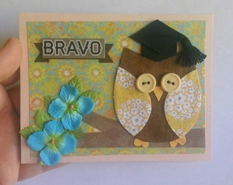 Graduation Card, Class of 2018, Owl Graduation Card, Congratulations Card, Congratulations Graduate Card, Card, Greeting Card, Owl Card