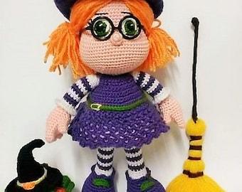 CUTE LITTLE WITCH -Amigurumi Crochet Pattern-Pdf