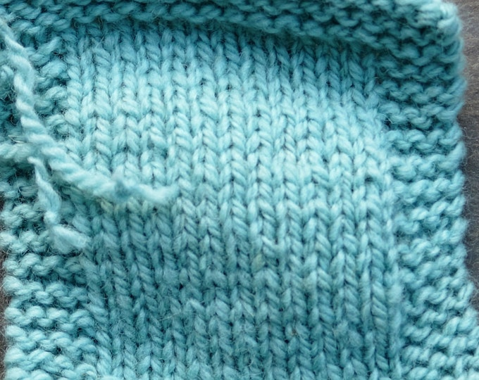 Teal Light 2 ply worsted weight wool yarn from our farm