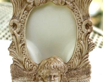 Frame Angel Cottage Chic Cherub Frame Glittered