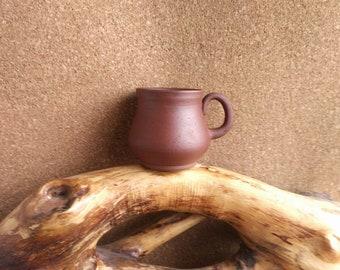 Handmade TEA CUP Unglazed mug Simple mug Ceramic MUG Ceramic cup Ornamented tea cup slavic pottery Terracotta pottery Handmade ceramics