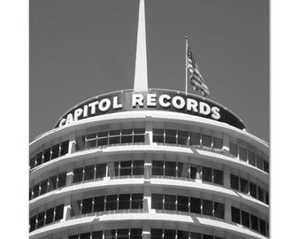"""Capitol Records Building Tower, Hollywood - 8.5"""" x 11"""" Fine Art Photograph"""