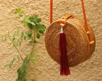 The natural Ata grass bag , a must have for every boho girl this summer