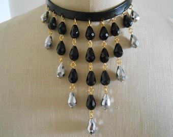 Crystal choker necklace, Crystal choker, Crystal necklace
