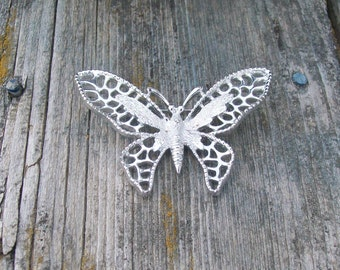 Vintage Sarah Conventry Silver toned Butterfly Brooch