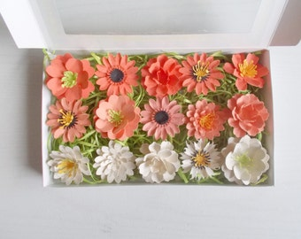 Plantable paper party favors and gardening gifts by papersprouts orange plantable paper flower garden lover gift set gardening set made from seed paper seeded paper favor embedded with flower seeds mightylinksfo