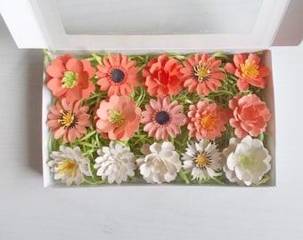 Orange Plantable Paper Flower Garden Lover Gift Set   Gardening Set Made  From Seed Paper   Seeded Paper Favor Embedded With Flower Seeds