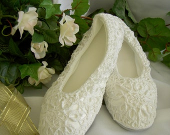PDF Pattern Eternal Rings Bride's Slippers - Crochet pattern for  cover for purchased slippers/crochet wedding shoes/crochet temple shoes