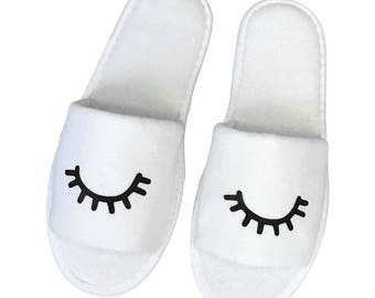 Sleeping House Slippers Natural Cotton Terry Velour Open Toe One Size