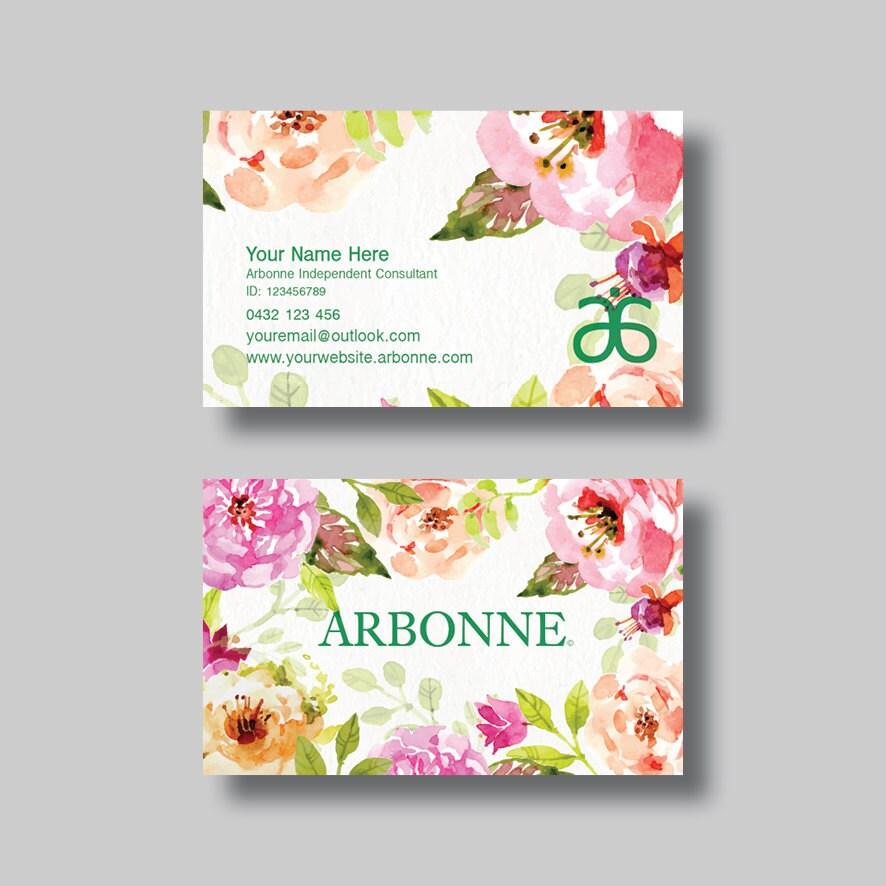 Arbonne Business Card Floral 4.0 Digital Design