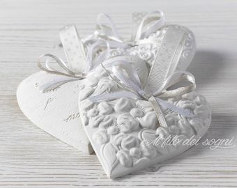 Romantic hearts, placeholders, chalk scented