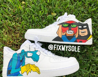 Custom Space Ghost Air Force Ones