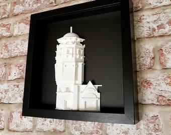 The Lighthouse Sculpture, Charles Rennie Mackintosh 3D sculpture, Glasgow Lighthouse 3D Sculpture, Art Nouveau Lighthouse model