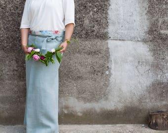 Jardinage tablier-Florilover-modèle chic «Blu chic»