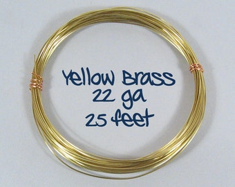 22ga 25ft DS Yellow Brass Wire