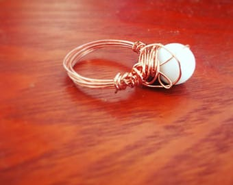 Pearl Ring with Copper Band