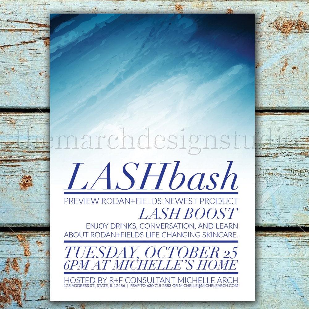 LASH BOOST Rodan and Fields Invitation Digital Custom