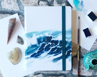 """Watercolor sketchbook """"Sea is inside"""" with 100% cellulose paper 300g"""