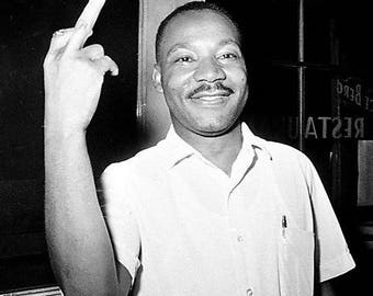 Dr. Martin Luther King showing his sense of humor 1950s