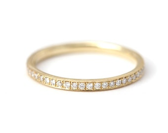 Classic Diamond Eternity Band, Eternity Wedding Band, Eternity Diamond Ring, Diamond Wedding Band, Thin Eternity Band, Micropave