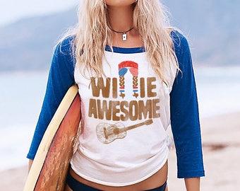 Willie Awesome USA 3/4 Sleeve Raglan Shirt