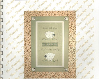 "Clearance - ""Fluffy Ewes"" Counted Cross Stitch Chart by Paw Prints Cross Stitch"