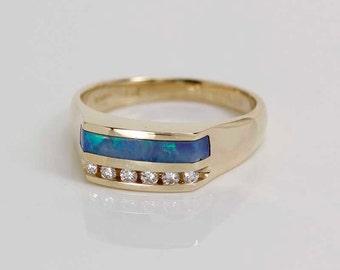 opal inlay ring