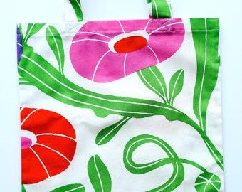 Everyday Bag Tote - Grocery Bag - Marimekko Tote Bag - Cotton Market Tote Bag - Marimekko Fabric Tote - Library Tote Bag - Colorful Tote Bag