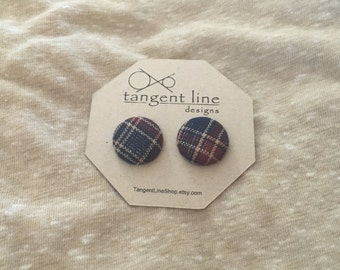 Plaid (blue n maroon)
