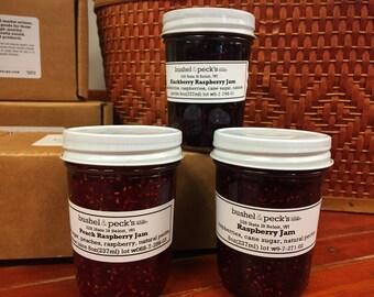 Jam Gift Box ~ Raspberry Favorites: Classic Raspberry, Blackberry Raspberry and Peach Raspberry Jam