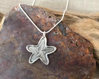 Starfish Fine Silver Pendant