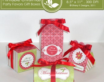 Printable Christmas party favors gift boxes ////// 001