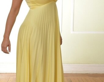 Vintage Maxi Yellow Dress