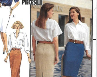 Butterick 4869 Misses/Miss Petite Fast & Easy Skirt Pattern, Size 6-10 and 12-16, UNCUT