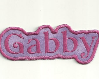 Your Name in a Bubble Patch, Any color! Custom Made!
