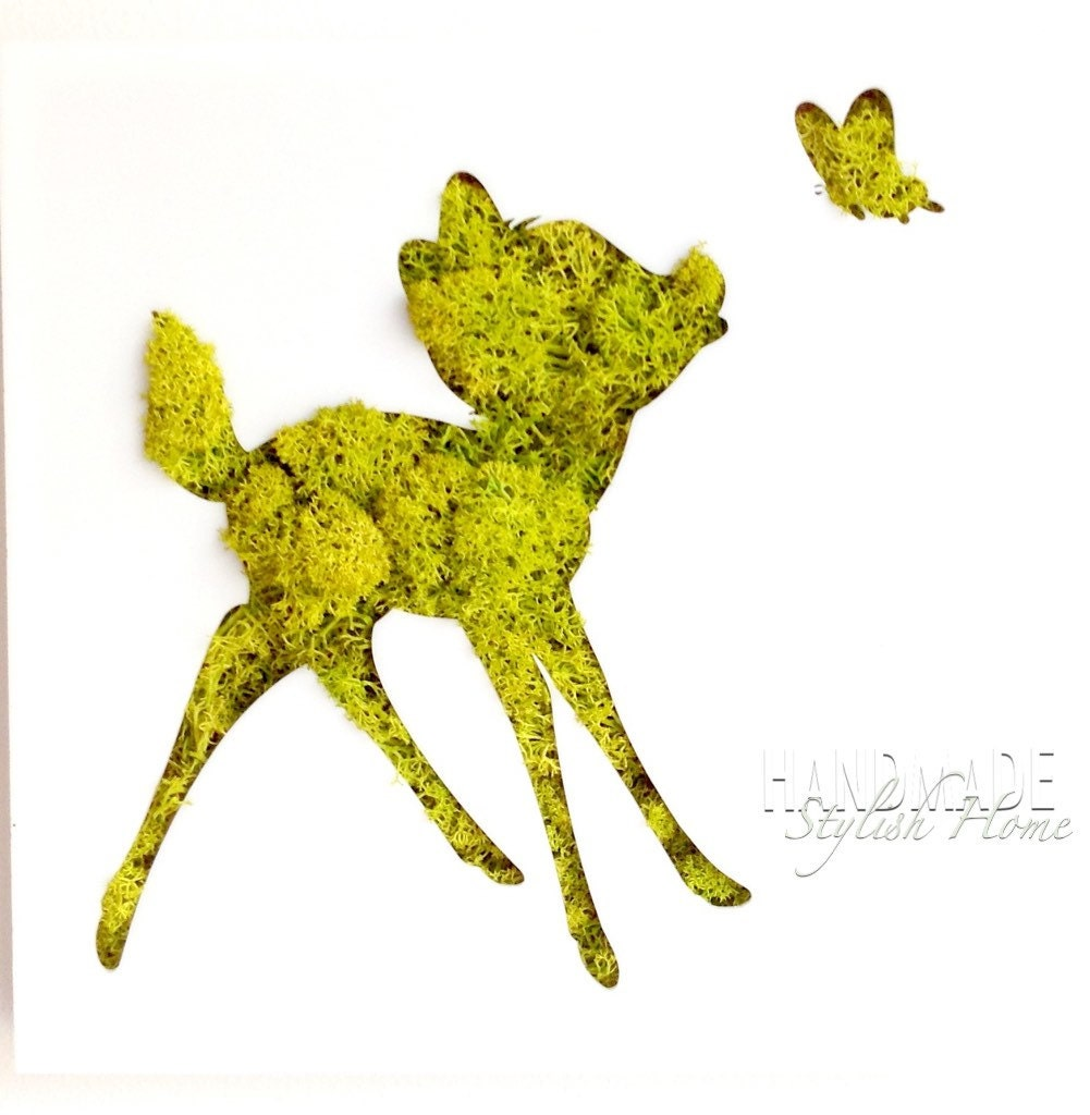 Fancy Living Moss Wall Art Diy Composition - Gallery Wall Art ...