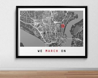 Southampton Football Poster, Football Poster, Football Print, gift, Map Print