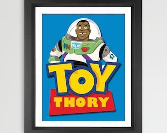 Toy Thory - Mike Tyson Parody Art Print