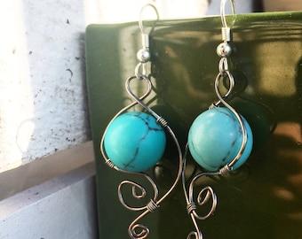 Terra Turquoise Droplet Earrings