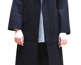 Wool Light Weight Open Front Long Cardigan Oversized Sweater
