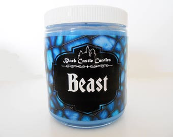 Beast Candle - Beauty and the Beast Inspired - Disney Candle - Black Castle Candles - Soy-blend Wax - 4 oz Container
