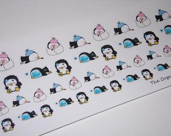 48 enfermos día pegatinas / el pingüino de la perla ~ gran para el planificador de la vida de Erin Condren