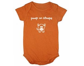 """Texas Longhorn Fan Baby Onesie - """"Poop on Stoops"""""""