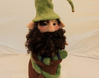 Gnome, Needle Felted Gnome, Garden Gnome, Felted Gnome, Forest Gnome # 1984