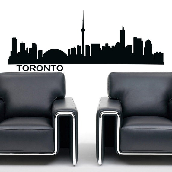 Toronto skyline wall decal vinyl sticker city silhouette wll