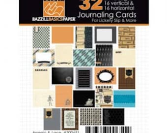Bazzill: Journal Cards, Arsenic & Lace