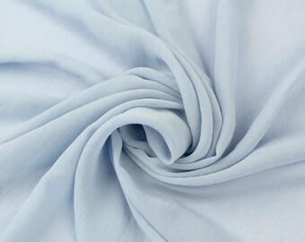 Blue Rain Solid Hi-Multi Chiffon Washed Fabric by the Yard - Style 501
