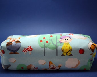 Boxy Makeup Bag - Disney's Seven Dwarfs Zipper - Pencil Pouch
